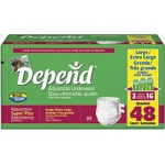 Depend ® Adjustable Super Plus Absorbency Underwear, Pull On Adult Diapers and Pull Ups Large, 44