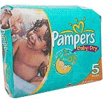 Pampers Baby-Dry Diapers for Kids Size 3, 16 to 28lb, Disposable, Latex-free - Qty: PK of 28 EA
