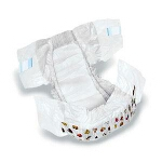 DryTime ® Baby Diapers for Toddlers Size 6, Over 35lb, Disposable, Latex-free, Anti-Leak Cuffs, Soft Foam-Elastic Waistband - Qty: BG of 15 EA