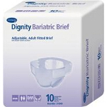 Dignity ® Bariatric Adult Fitted Briefs, Diapers Maxiumum Protection 63